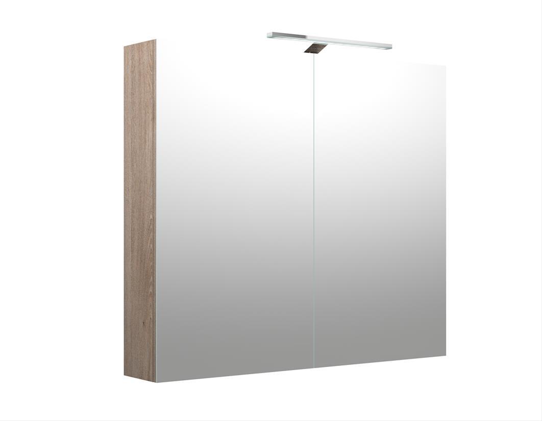 Bad LED Spiegelschrank Milano 80 Nelson Eiche Bild 1