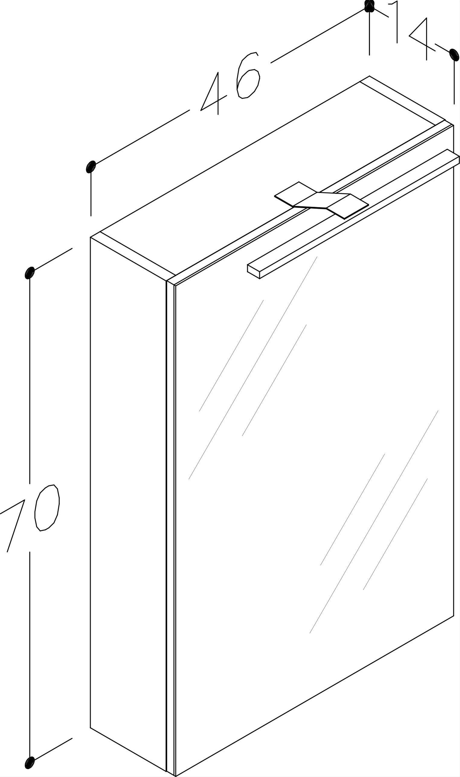 Bad LED Spiegelschrank Scandic 46 Weiß glänzend Bild 2