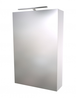 Bad LED Spiegelschrank Scandic 46 Weiß glänzend Bild 1