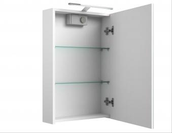 Bad LED Spiegelschrank Scandic 46 Weiß glänzend Bild 3