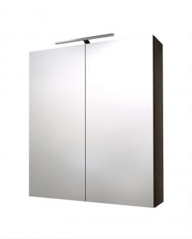 Bad LED Spiegelschrank Scandic 60 Eiche schwarz Bild 1