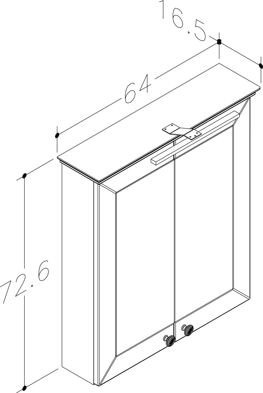 Bad LED Spiegelschrank Siesta 64 Kaschmir grau Bild 2