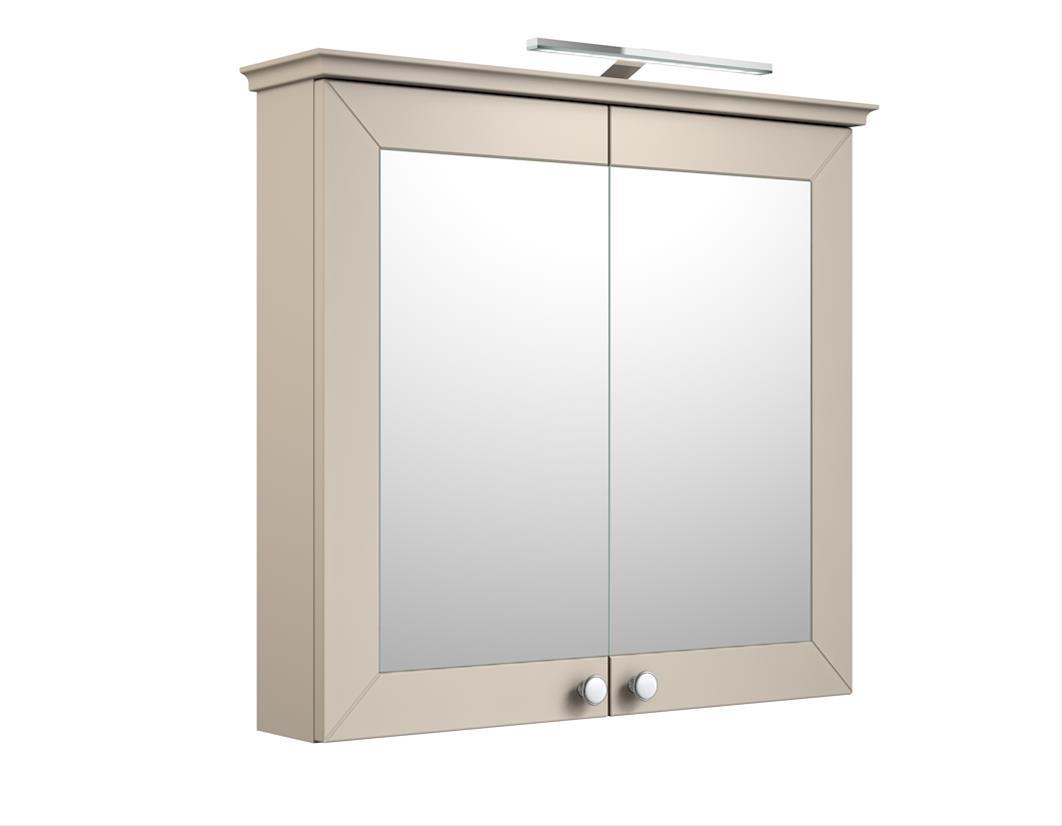 Bad LED Spiegelschrank Siesta 79 Kaschmir grau Bild 1