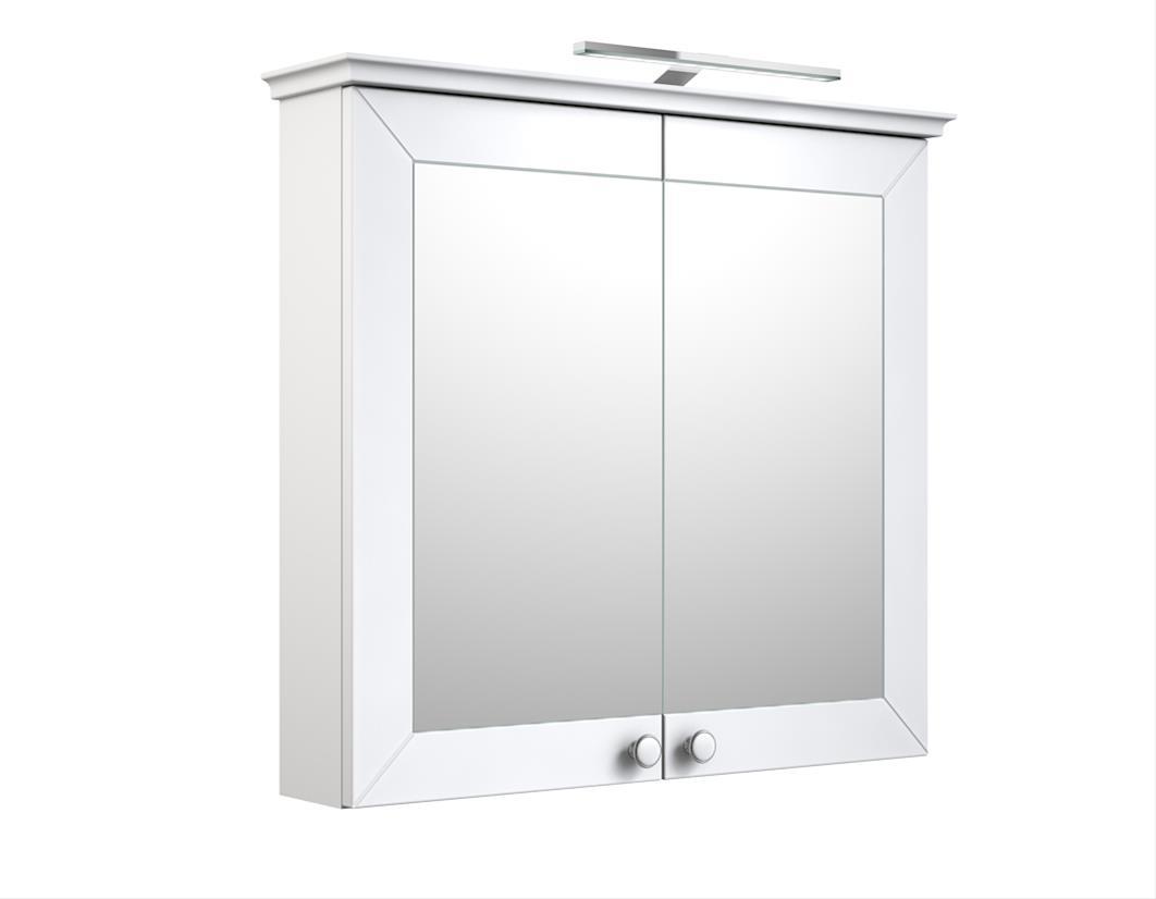 Bad LED Spiegelschrank Siesta 79 Weiß matt Bild 1
