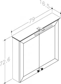 Bad LED Spiegelschrank Siesta 79 Weiß matt Bild 2