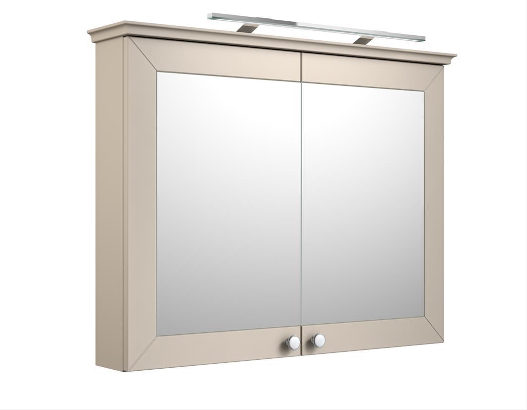 Bad LED Spiegelschrank Siesta 94 Kaschmir grau Bild 1