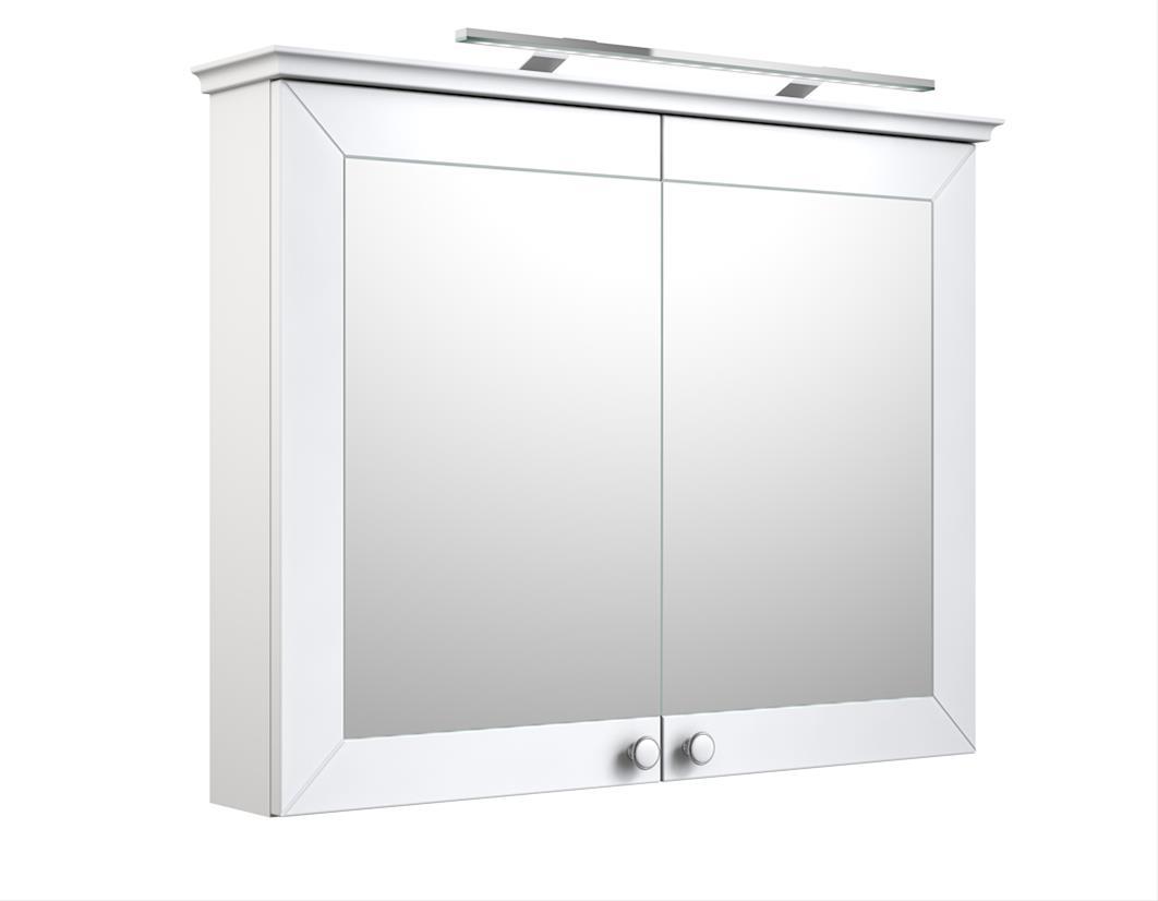 Bad LED Spiegelschrank Siesta 94 Weiß matt Bild 1