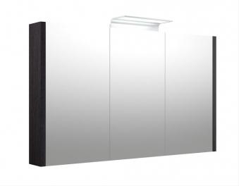 Bad LED Wave Spiegelschrank Luna 110 Eiche schwarz Bild 1