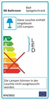 Bad LED Wave Spiegelschrank Luna 110 Weiß glänzend Bild 4