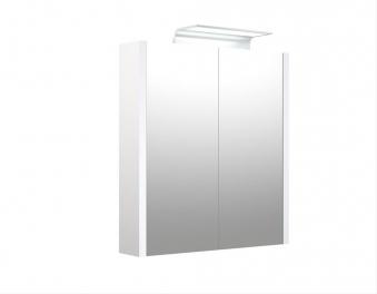 Bad LED Wave Spiegelschrank Luna 60 Weiß glänzend Bild 1