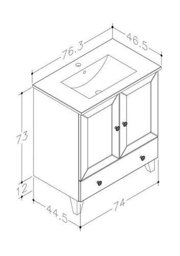 Bad Waschtischunterschrank mit Keramik-Waschtisch Siesta 91 Kaschmir grau Bild 2