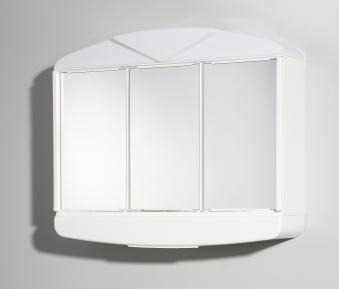 Jokey Spiegelschrank Arcade 3-türig weiß 59x49x15,5cm Bild 1