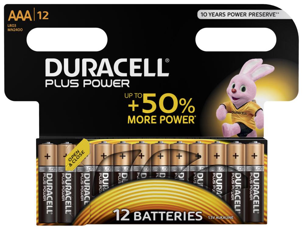Batterie Duracell MN2400 Plus Power AAA LR3 12 Stück Bild 1