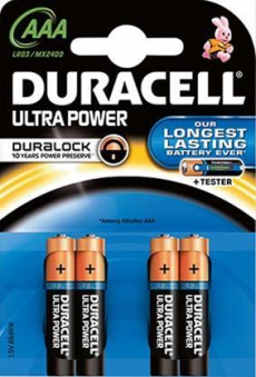Duracell Ultra Power AAA BPH8 Dclick m. Powercheck Bild 1