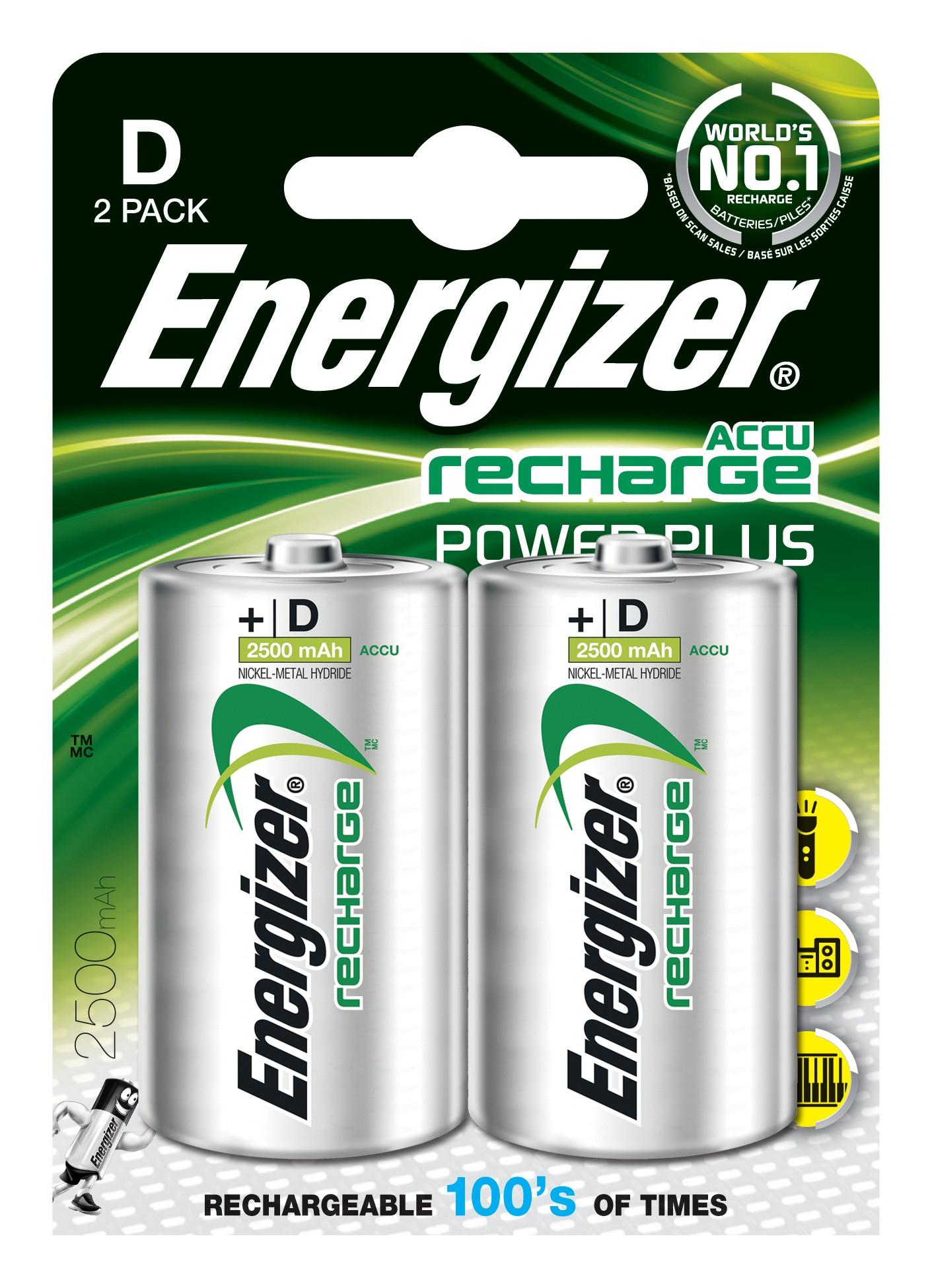 Energizer Akku Power Plus D / Mono 2500mAh 2 Stück Bild 1