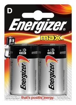 Energizer Batterie Max Mono / D 1,5V 2 Stück Bild 1