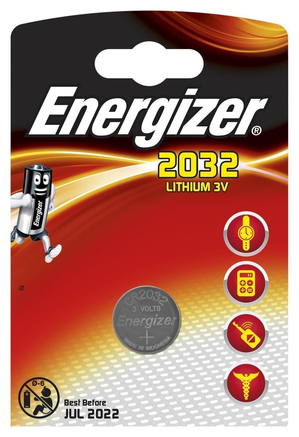 Energizer Knopfzelle Spezialbatterie CR2032 Lithium 1 Stück Bild 1