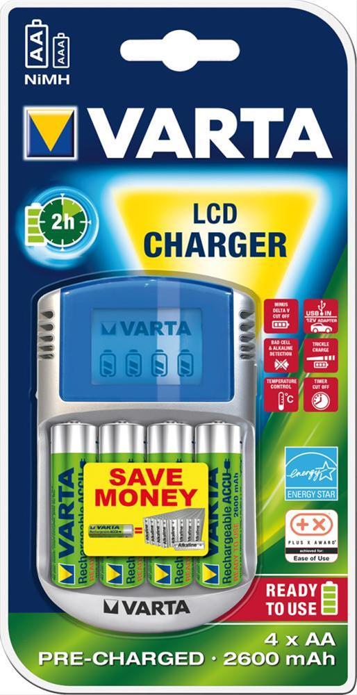 Ladegerät P.Play LCDCharginkl. 4xAA 2700mAh Bild 1