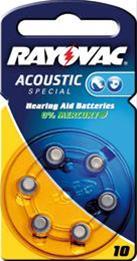 Rayovac Knopf Acoustic S.10 6-er Bli Bild 1