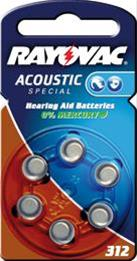 Rayovac Knopf Acoustic S.312 6-er Blister Bild 1