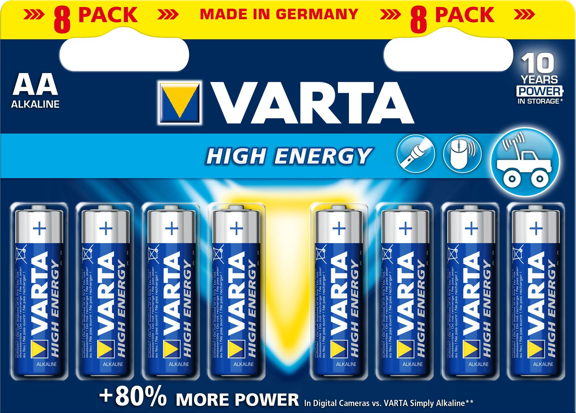 VARTA High Energy AA 1,5 Volt 8 Stück Bild 1
