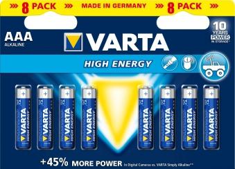 VARTA High Energy AAA 1,5 Volt 8 Stück Bild 1