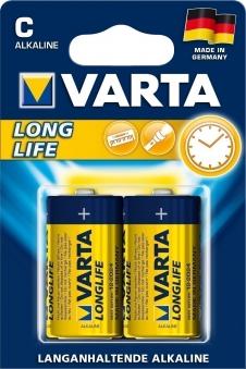 VARTA Long Life C 1,5 Volt 2 Stück Bild 1