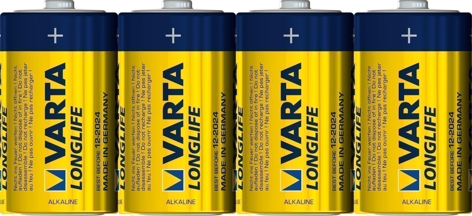 VARTA Long Life D 1,5 V 4 Stück Bild 1
