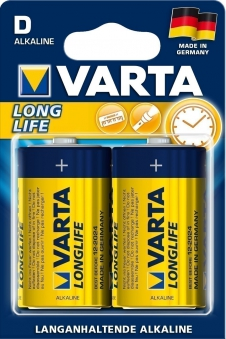 VARTA Long Life D 1,5 Volt 2 Stück Bild 1