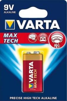 VARTA Max Tech 9V Block 1 Stück Bild 1