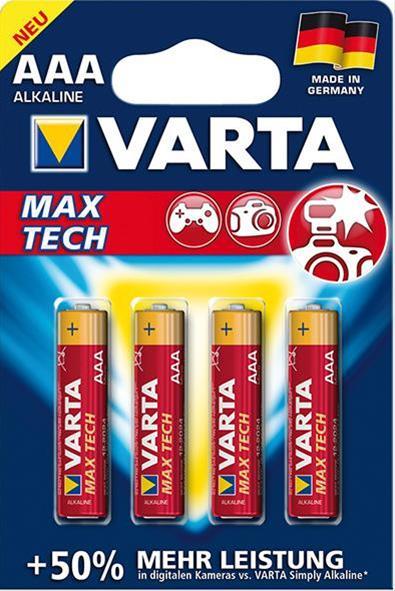 VARTA  Max Tech AAA 1,5 V 4 Stück Bild 1