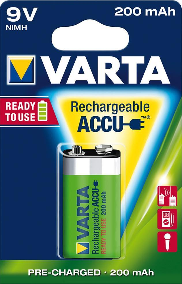VARTA Rechargeable Akku 9 V / E-Block 1 Stück Bild 1