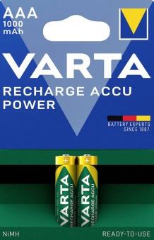 VARTA Rechargeable Akku AAA 1,2 V 1000mAh 2 Stück Bild 1