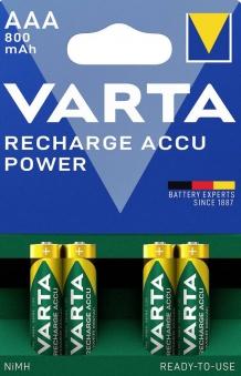VARTA Rechargeable Akku AAA 1,2 V 800mAh 4 Stück Bild 1