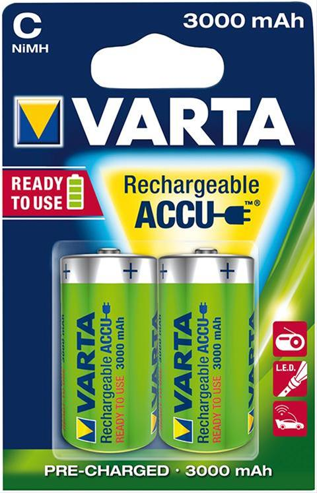 VARTA Rechargeable C 1,2 V 3000mAh 2 Stück Bild 1