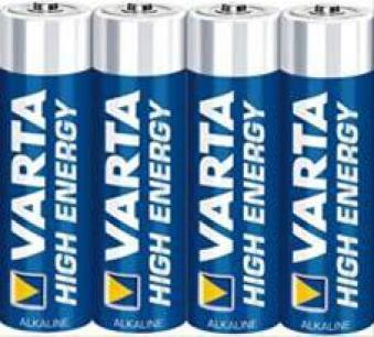Varta Alkali High Energy AA 4x Fol Bild 1