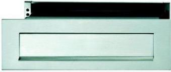 Briefeinwurf-Set TS40-70 0383808 F69 Edelstahl mit Schacht+Klappe Bild 1