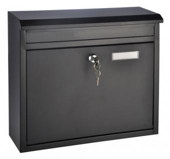 Briefkasten Metall schwarz 36x12x32cm Bild 1