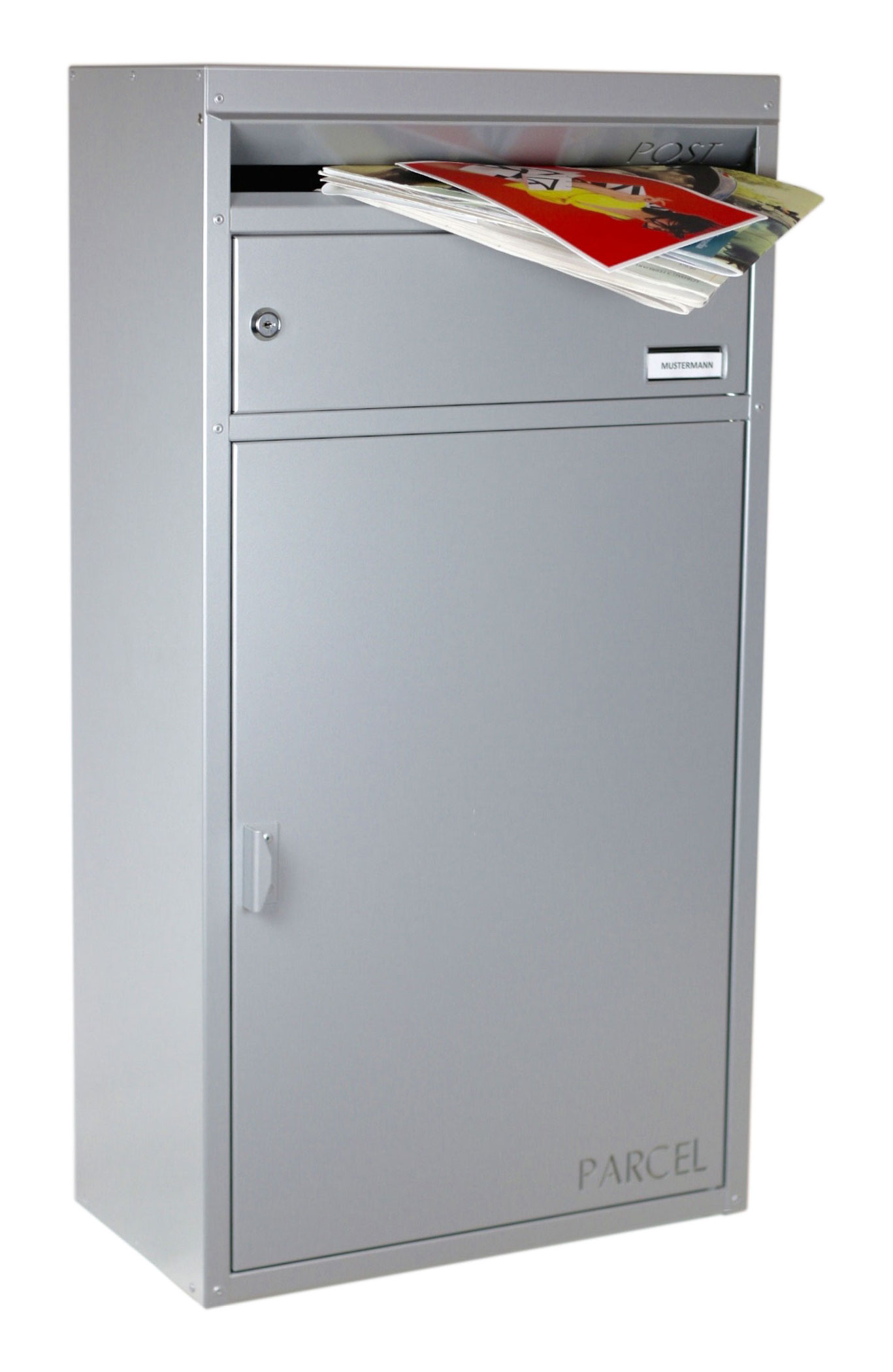 Briefkasten / Paketbriefkasten ScanPro 65 silbergrau Bild 2