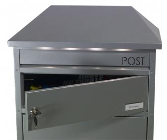 Briefkasten / Paketbriefkasten ScanPro 95LED anthrazitgrau Bild 2