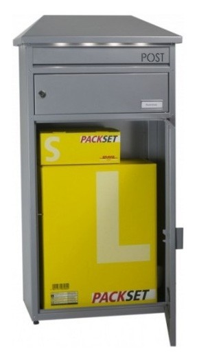 Briefkasten / Paketbriefkasten ScanPro 95LED silbergrau Bild 3