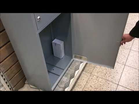 Briefkasten / Paketbriefkasten ScanPro 95LED silbergrau Video Screenshot 2212