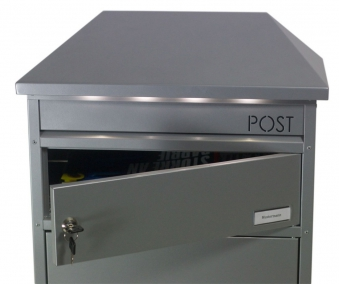 Briefkasten / Paketbriefkasten ScanPro 95LED silbergrau Bild 2
