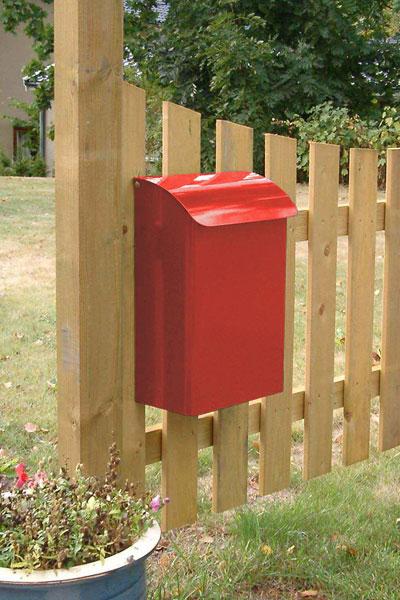 Briefkasten / Postkasten Safe Post Größe 14 rot Bild 2