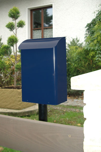 Briefkasten / Postkasten Safe Post Größe 14 stahlblau Bild 2