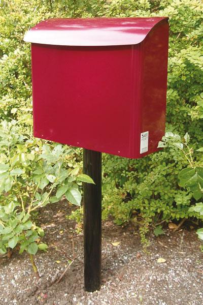 Briefkasten / Postkasten Safe Post Größe 21 weinrot Bild 2