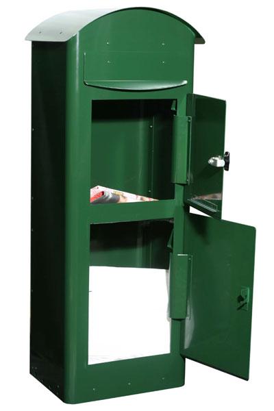 Briefkasten / Postkasten Safe Post Größe 80 racinggreen Bild 2