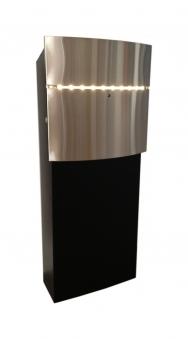 Briefkasten / Postkasten SafePost 12-8 LED Edelstahl Bild 3