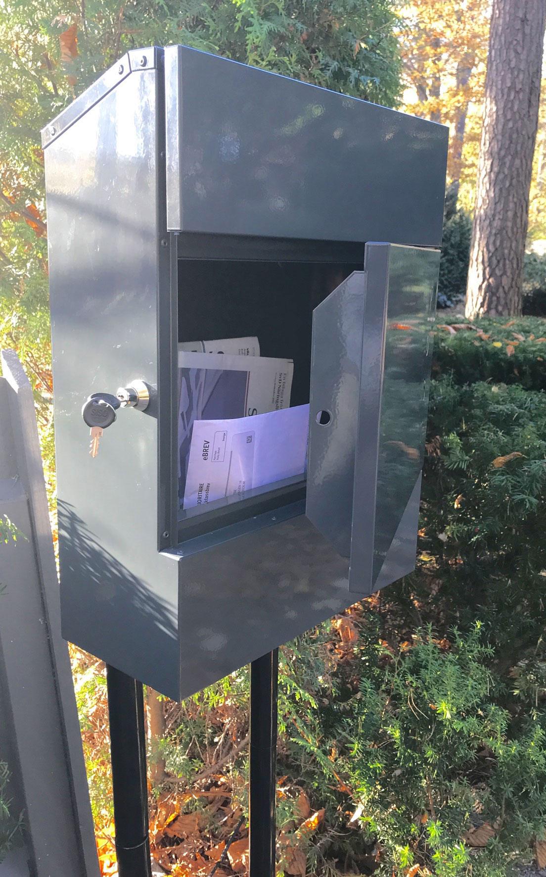 Briefkasten / Postkasten ScanPro 11-9 anthrazitgrau Bild 4