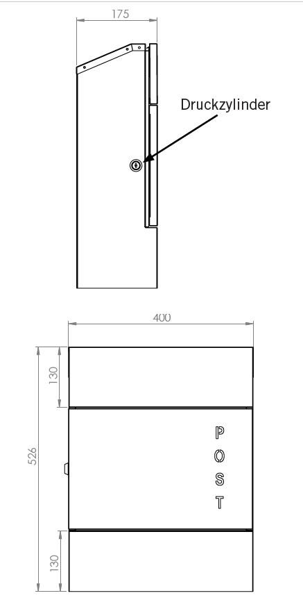 Briefkasten / Postkasten ScanPro 11-9 silbergrau Bild 5